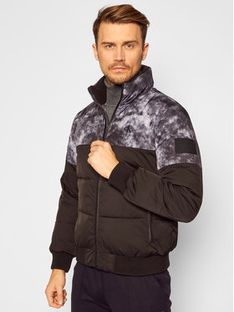 Calvin Klein Jeans Kurtka puchowa Cloud Print J30J316613 Czarny Regular Fit
