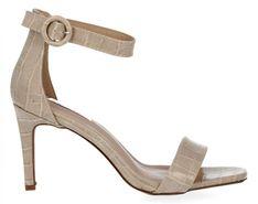 Beżowe buty damskie sandały na obcasie firmy Bellucci (kolory)