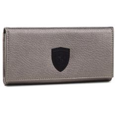Duży Portfel Damski PUMA - Sf Ls Wallet F 053477 01 Metallic Ash