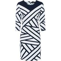 Bonprix sukienka z jerseyu wielokolorowa mini casual