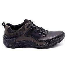 KENT Skórzane buty męskie Trapery 207 czarne