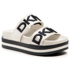 Klapki DKNY - Tee K1136610  Vanilla/Blk