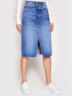 Guess Spódnica jeansowa W1RD96 D4AM1 Niebieski Regular Fit