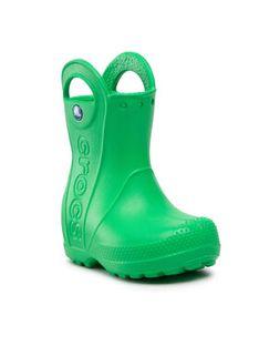 Crocs Kalosze Handle It Rain Boot Kids 12803 Zielony