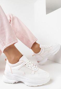 Biało-Różowe Sneakersy Ianra
