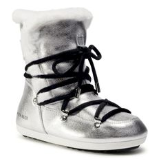 Śniegowce MOON BOOT - Dk Side High Shearling 24300100001 Silver