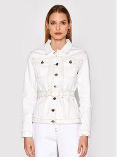 Pinko Kurtka jeansowa Julia 1J10MC Y652 Biały Regular Fit