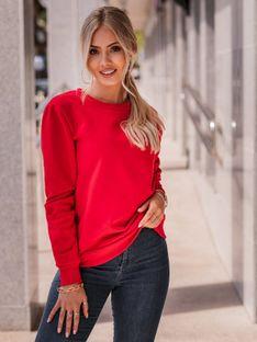 Bluza damska bez kaptura 001TLR - czerwona