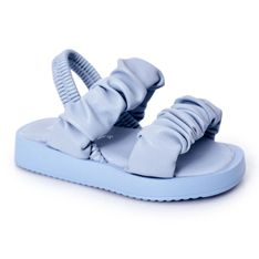 FR1 Dziecięce Sandały Ze Ściągaczem Błękitne Sweetness niebieskie