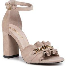 Sandały damskie Karino na wysokim obcasie eleganckie