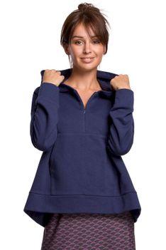 Oryginalna Bluza Kangurka z Kapturem - Niebieska