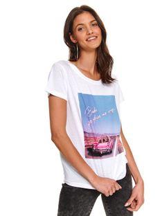 T-shirt krótki rękaw damski  z printem