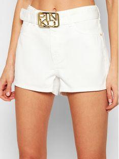 Pinko Szorty jeansowe Brooklyn 1 Biały Regular Fit