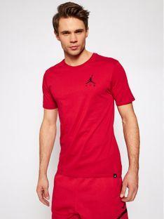 Nike T-Shirt Jordan Jumpman AH5296 Czerwony Standard Fit