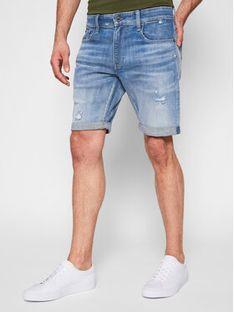 G-Star Raw Szorty jeansowe 3301 D17418-C051-C278 Niebieski Slim Fit