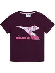 Diadora T-Shirt Chromia 102.176488 Fioletowy Regular Fit