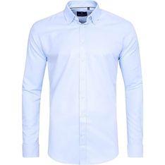Koszula męska Di Selentino elegancka niebieska z długim rękawem
