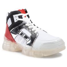 Sneakersy LOVE MOSCHINO - JA15444G0BJ1210A Bia/Bia/Ner/Arg/Rss
