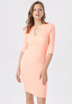Pomarańczowa Sukienka Klelira