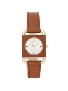 Furla Zegarek Arco Square Brązowy