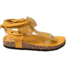 Seastar Wiązane Sandały Japonki żółte