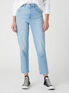 "Wrangler ""Mom Jeans"" Clear Blue"