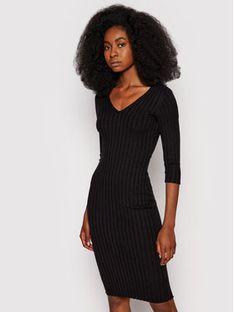 Guess Sukienka dzianinowa Gisele W1YK0F Z2V40 Czarny Slim Fit