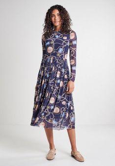 Rich & Royal - Długa sukienka - niebieski