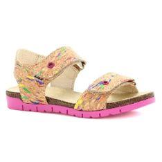 Sandały Bartek T-16183/1Pk, Dla Dziewcząt, Beżowy