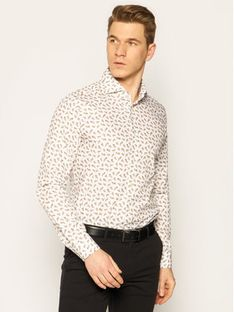 Strellson Koszula Sereno 30020147 Biały Slim Fit