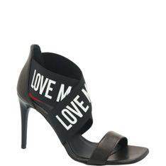Love Moschino Skórzane sandały na szpilce