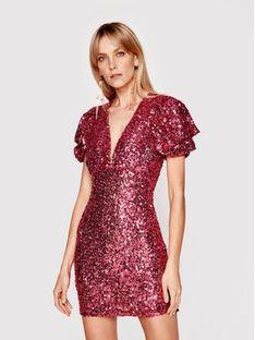 Babylon Sukienka koktajlowa N_S00996 Różowy Slim Fit