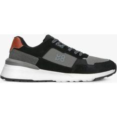 Czarne buty sportowe męskie Up8 sznurowane
