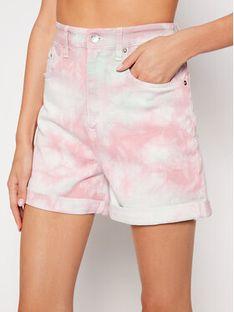 Tommy Jeans Szorty jeansowe Mom Random DW0DW10463 Różowy Mom Fit