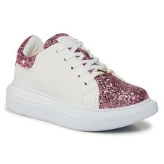 Sneakersy LOVE MOSCHINO - JA15654G0BJ6260A  Rosa/Bia