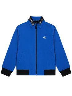 Calvin Klein Jeans Kurtka przejściowa Logo Elastic IB0IB00721 Niebieski Regular Fit