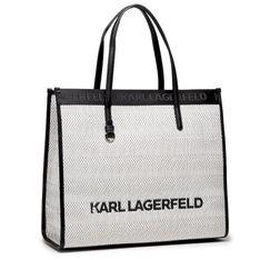 Torebka KARL LAGERFELD - 211W3022 Blck/Wht