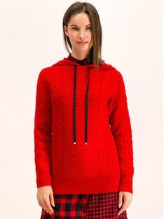 Hugo Sweter 50414237 Czerwony Regular Fit