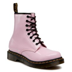Glany DR. MARTENS - 1460 W Patent Lamper 26425322  Pale Pink