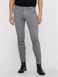 ONLY & SONS Spodnie materiałowe Mark 22010209 Szary Slim Fit