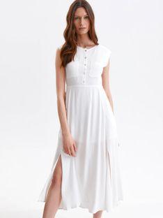 Sukienka koszulowa maxi z wiązaniem w pasie