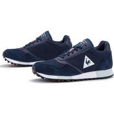 Buty sportowe damskie Le Coq Sportif zamszowe bez wzorów płaskie sznurowane