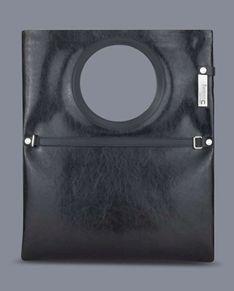 Torba Lucia N° 1 -  czarna błyszcząca torebka