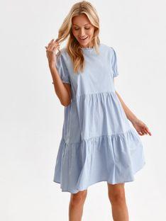 Luźna sukienka z falbanami