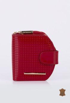Mały, pikowany portfel z przegródkami