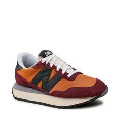 Sneakersy NEW BALANCE - WS237SC Bordowy Pomarańczowy