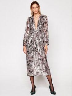 IRO Sukienka wieczorowa Rouniea WM33 Srebrny Regular Fit