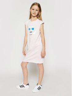 KARL LAGERFELD Sukienka codzienna Z12172 S Różowy Regular Fit