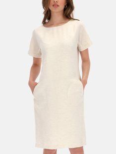 Prosta beżowa sukienka L'AF LANA