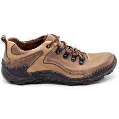 KENT Skórzane buty męskie Trapery 207 brązowe